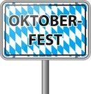 oktoberfest schild mit bayern flagge vektor