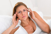 woman having headache
