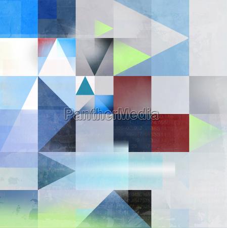 abstrakt konzept ziel dreieck textur zahlen