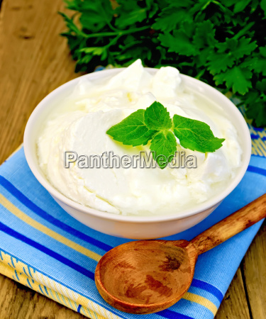 yogurt in a white bowl with