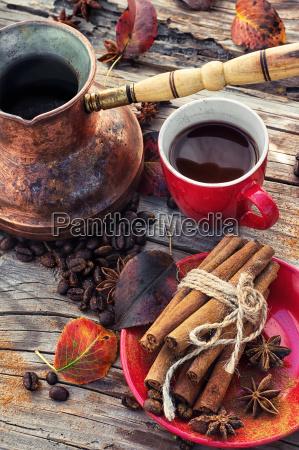 coffee in the fall