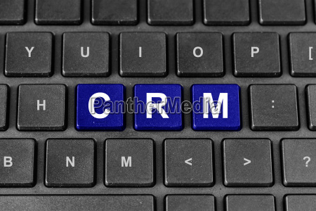 crm or customer relationship management word