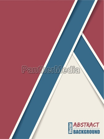 abstract brochure with stripes and shadows