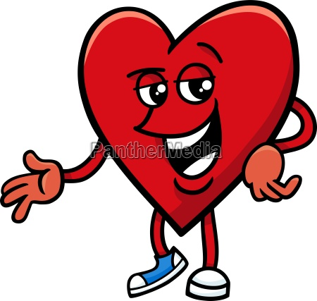 heart valentine cartoon character