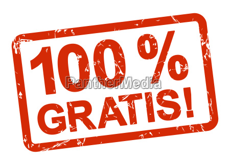 red stamp 100 gratis