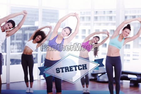the word stretch and sporty women