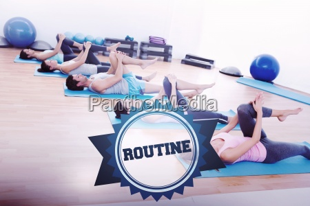 the word routine and sporty people