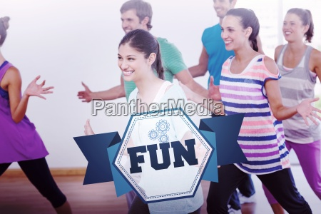 the word fun and cheerful fitness