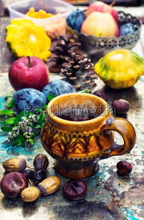 mug with herbal tea
