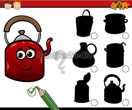 shadows task cartoon for kids