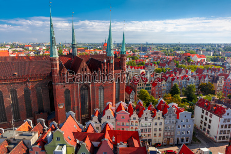 st mary church in gdansk poland