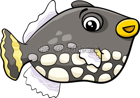 exotic fish cartoon