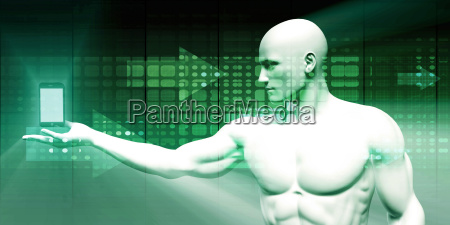 businessman presenting smartphone