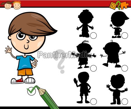 shadows task cartoon for children
