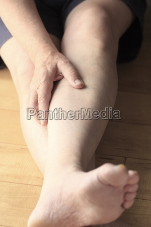 mature man with leg pain
