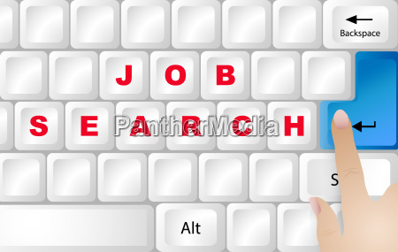job searching internet concept vector