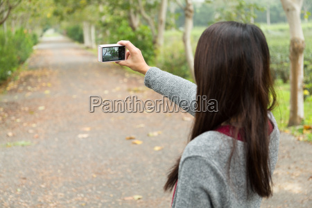 woman use of the camera for