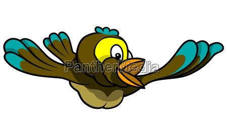 flying singing sparrow