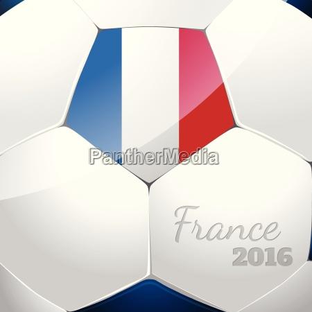 soccer ball with france flag