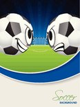 soccer match advertisimg poster brochure