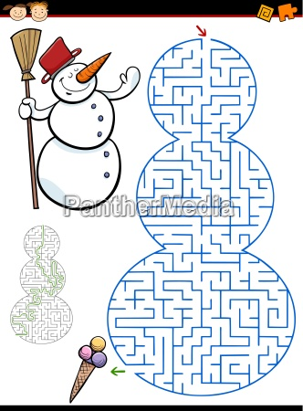 maze or labyrinth task for kids