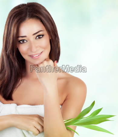 woman in luxury spa salon