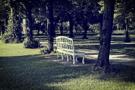 germany bavaria schleissheim park bench in