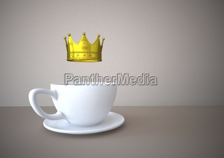 coffee cup with golden crown illustration