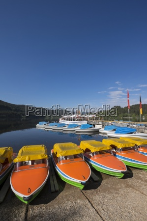 germany baden wuerttemberg titisee neustadt pedalboats