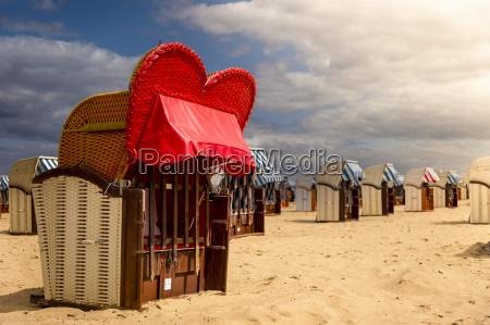 germany schleswig holstein travemuende hooded beach
