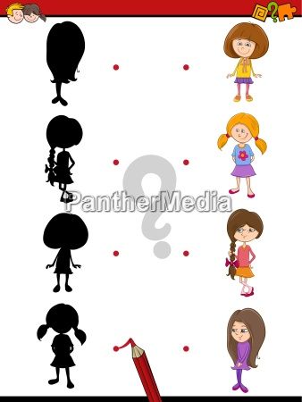 preschool shadow game with kids