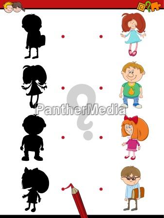 preschool shadow activity with kids