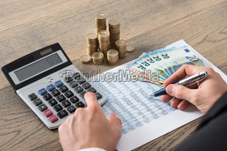 close up of a businessman analyzing