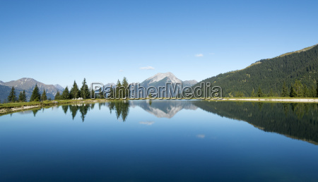 austria tyrol ehrwald water reflections in
