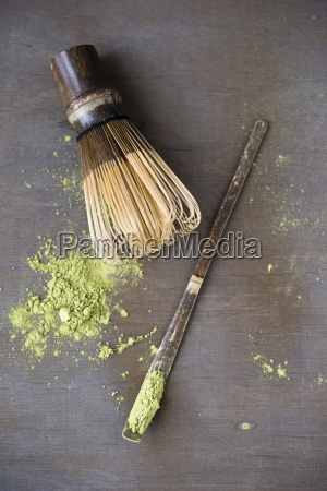 matcha tea matcha whisk and spatula