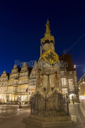 germany bremen view to roland at
