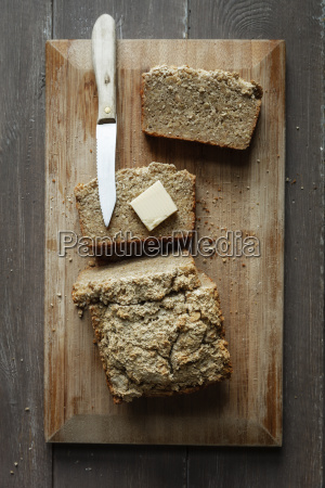 home baked glutenfree buckwheat bread piece