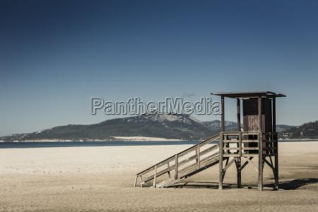 spain andalusia tarifa hut on beach