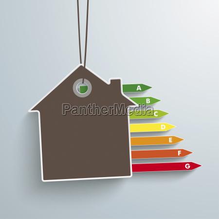 vektor illustrationhaus und energiepass