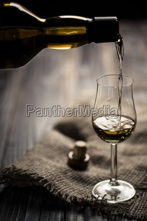 scotch single malt whiskey being poured