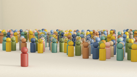 3d rendering of game pieces with
