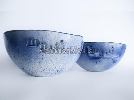 blue muesli bowls