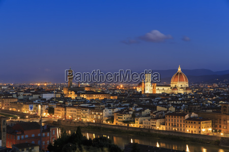 italy tuscany florence cityscape view of