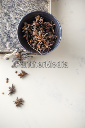 bowl of star anise on a
