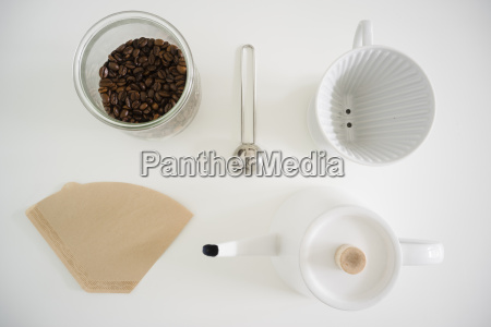 still life with utensils for preparing