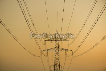 austria burgenland high voltage pole in