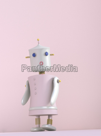 female robot 3d rendering