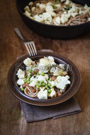 dish of whole grain spelt spaghetti