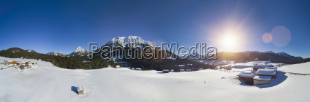 austria tyrol brandenberg alps farms between