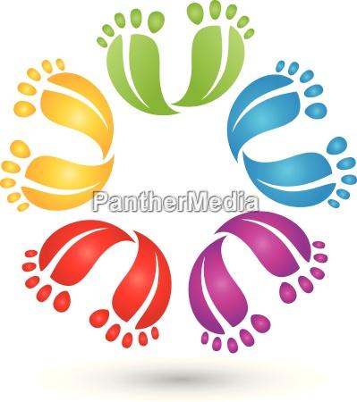viele fuesse farbig logo fusspflege